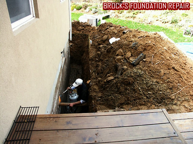 Foundation Repair by Brock's Landscape